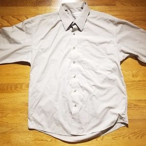 Yves Saint Laurent YSL Off White Button Up Collar